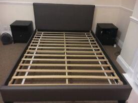 Argos - Constance Double Bed Frame - Mocha