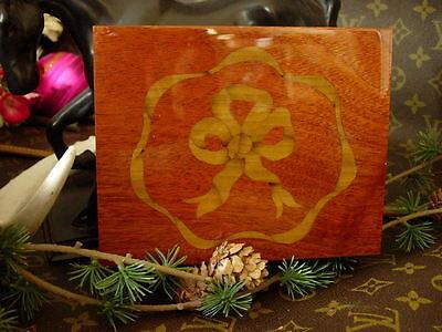 Beautiful RARE Vintage GUCCI Inlaid Wood Lacquer Jewelry Decor Presentation Box