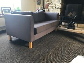 Dark blue 2 seat sofa