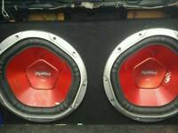 """2 x 12"""" subs and amp"""