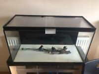 112L fish tank with lid, heater and light
