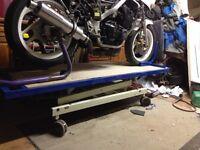 Motorbike bench