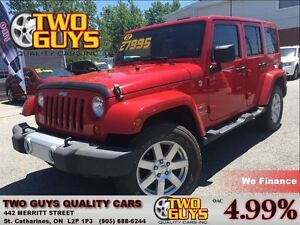 2012 Jeep WRANGLER UNLIMITED Sahara 4WD  TWO TOPS CHROME MAGSW/R
