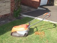FLYMO HOVER COMPACT 350 ELECTRIC ROTARY LAWN MOWER IN EXCELLENT WORKING ORDER