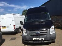 ford transit jumbo.2010.air con.electric windows and mirrors.spare key.1 owner