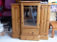 Pine stereo display unit cabinet