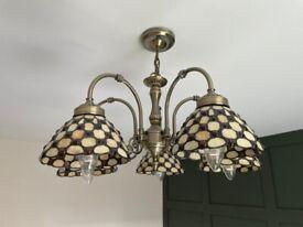 Tiffany 5 head ceiling light