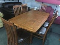 Stunning solid wood Dinning Table 6 chairs