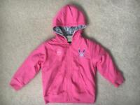 Girls BNWT NEXT Pink Reversible Jacket Age 3-4 years