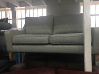 New / Ex Display - dfs Modern 3 Seater Grey Sofa