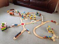 Wooden train set Brio/big jigs
