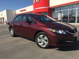 2013 Honda Civic LX| Heated Seats| Bluetooth| One Owner|