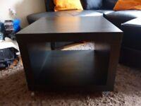 Ikea coffee table black brown