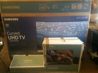Samsung TV and Sound Bar