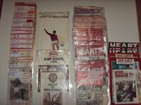 Hearts Of Midlothian Football Programm Collection