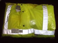 Mens Large hi-vis padded coat