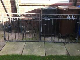 Solid wrought iron gates