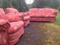 3 piece sofa (Terracotta)
