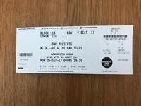 2 x Nick Cave & The Bad Seeds tickets - Manchester 25th September