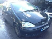 2004 Ford Galaxy 1.9 TD 115 solid black manual BREAKING FOR SPARES