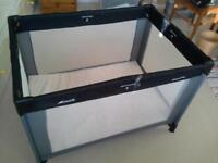 Hauck travel cot with foam mattress