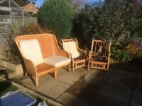 Rattan sofa and chairs
