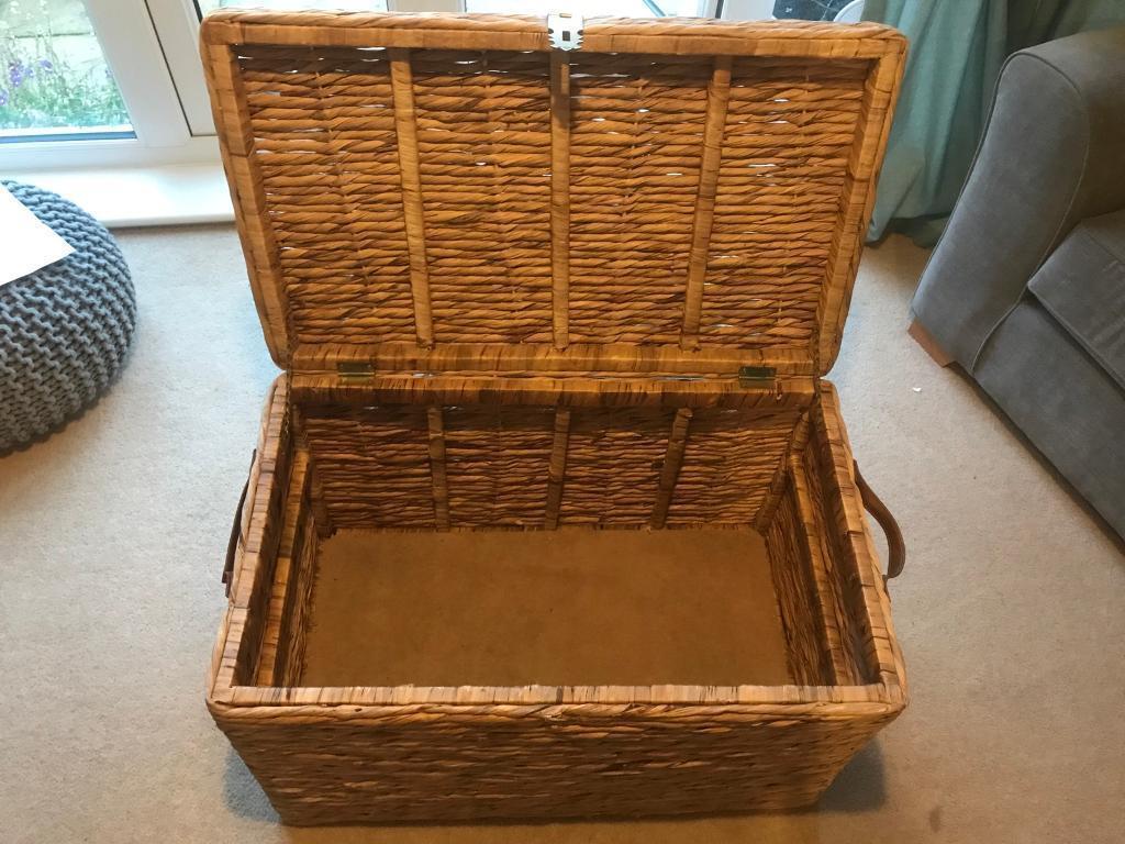 Wicker toy basket