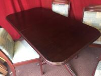 WOODEN DINING TABLE WITH 4 CHAIRS,TRANSPORT AVAILABLE