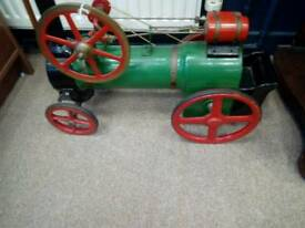 Hand made model of steam train with moving piston rods