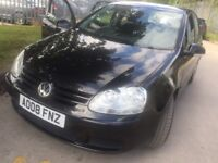 VW Golf 1.9TDi 2008 Black 5-dr LONG MOT Service History £1795