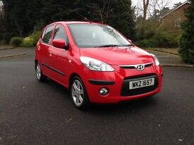 2008 HYUNDAI I10 1.1 STYLE EXCELLENT CONDITION THROUGHOUT £30 A YEAR ROAD TAX