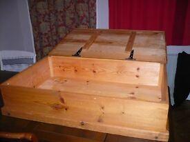 Solid pine storage/blanket box