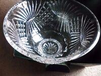 Tyrone crystal dalad bowl and servers