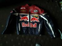 Red bull leather biker jacket