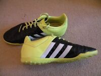 Adidas Astroturf Trainers, size 5, yellow and black