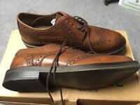 Next tan leather brogues mens size 9 brand new