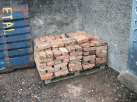 Approx 250 Reclaimed Hand Made Red Bann Brick