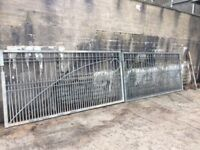Pair of HD galvanised gates ready to accept any paint colour. 6m over all by 1.5m high (20ft x 5ft)