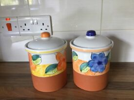 Storage jars x 2