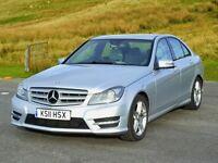 LOW Mileage, 2011 Mercedes-Benz C220 CDi SPORT Blu-Efficiency 2.2 CDi, New MOT, Leather, SatNav