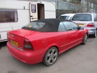 2003 03 VAUXHALL ASTRA 2.2 LINEA ROSSA CONVERTIBLE LONG MOT 10/17 2 FORMER KEEPER LEATHER SH PX SWAP