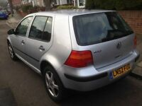 vw golf 1.6p 62000m from new with VOSA print