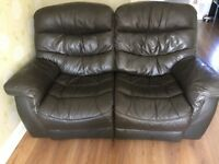 Leather recliner 3 and a 2 seater sofas
