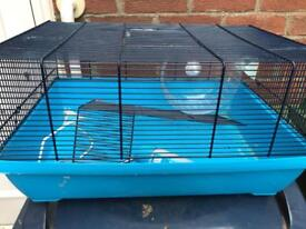 Pet hamster mouse cage with wheel and water bottle