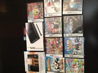 Nintendo DS lite with charger kit & games