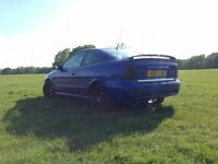 VAUXHALL/OPEL ASTRA BERTONE COUPE, LEATHER SEATS, FACTORY FITTED HALF SUEDE INTERIOR 12 MONTHS MOT