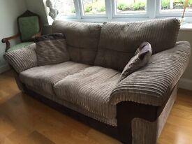 Super-comfy fabric 2 seater sofa