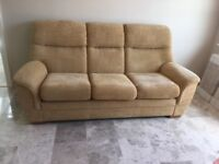 Parker Knoll Three Piece Suite. Condition as new. Genuine reason for sale. Can deliver locally.