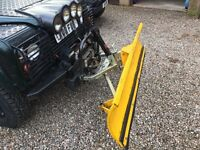 Land Rover Defender winch and snow plough