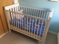 Mamas and papas baby cot with mattress